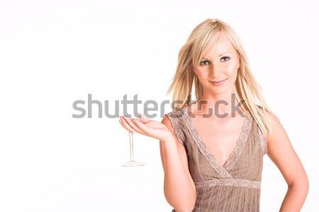 Mujer de negocios negocios dama informal verde Foto stock © Forgiss