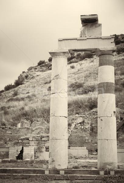 Vieux ruines ville modernes jour Turquie Photo stock © Forgiss