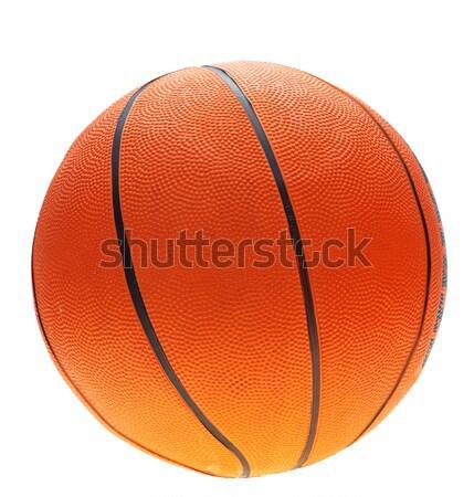 Oranje basketbal zwarte lijnen witte kleur Stockfoto © Forgiss