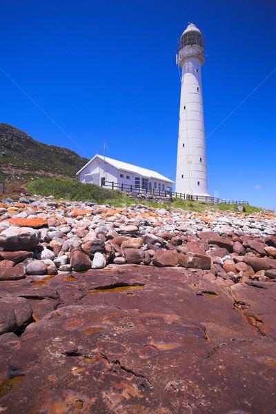 Vuurtoren historisch westerse South Africa hemel water Stockfoto © Forgiss