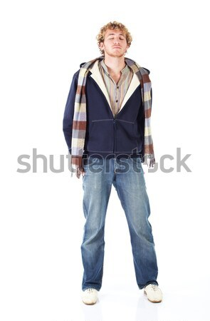Blonde young man Stock photo © Forgiss