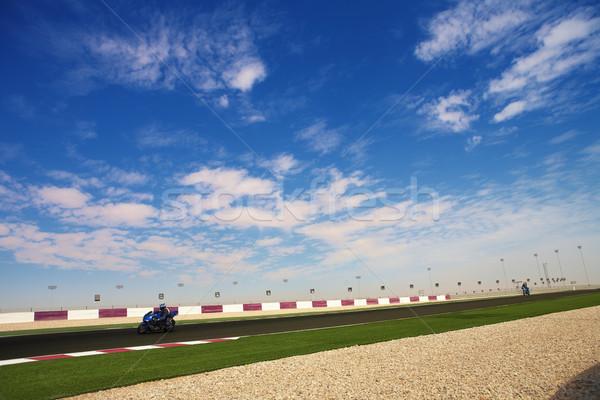 Yarış pisti bölüm asfalt ana düz Stok fotoğraf © Forgiss