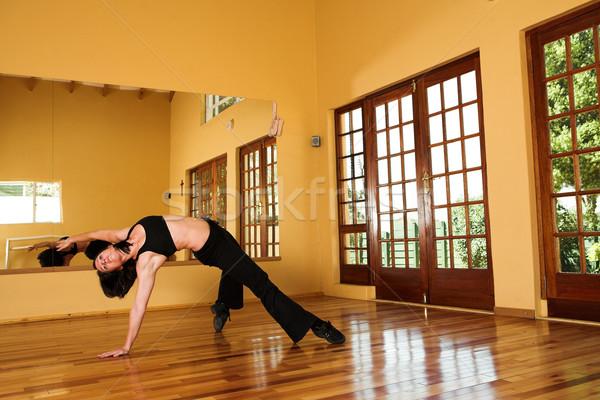 Dançarina 10 feminino estúdio mulher Foto stock © Forgiss