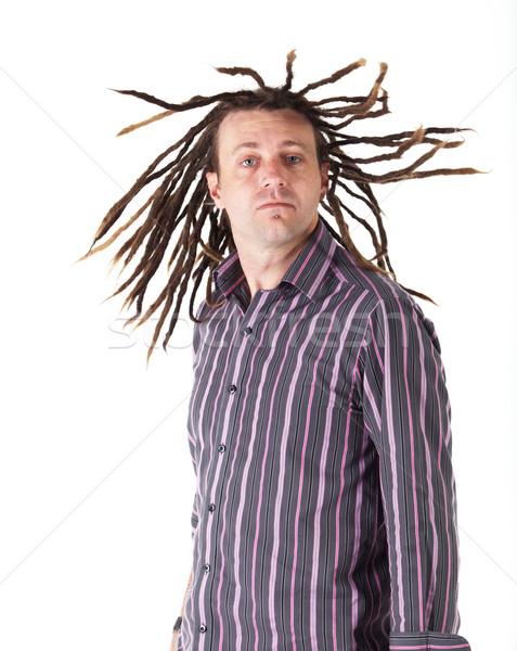 Człowiek dorosły przypadkowy nosić biały Zdjęcia stock © Forgiss