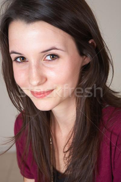 Fiatal tinilány portré gyönyörű fiatal felnőtt tinédzser Stock fotó © Forgiss