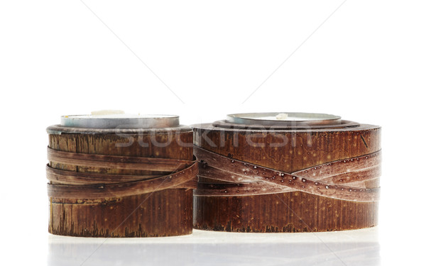 Bamboo candle holders Stock photo © forgiss