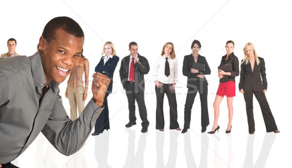 Negro África empresario pie gente de negocios grupo Foto stock © Forgiss