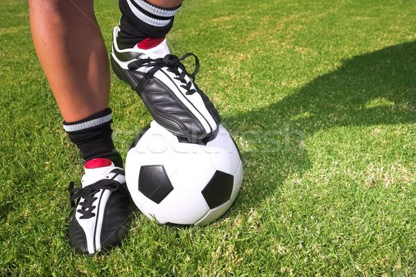 サッカーボール サッカー ピッチ 男性 ストックフォト © Forgiss