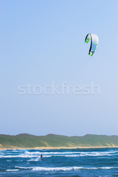 18 persoon Kite surfen water natuur Stockfoto © Forgiss
