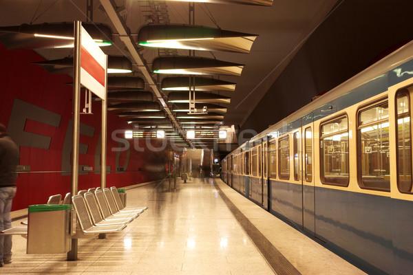Munich movimiento tren subterráneo estación de ferrocarril movimiento Foto stock © Forgiss