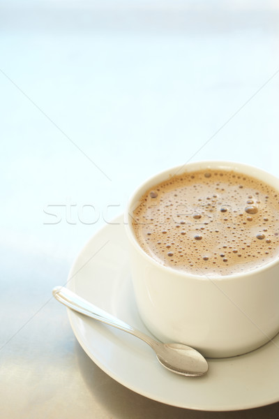 Cafe latte in coffee cup Stock photo © Forgiss