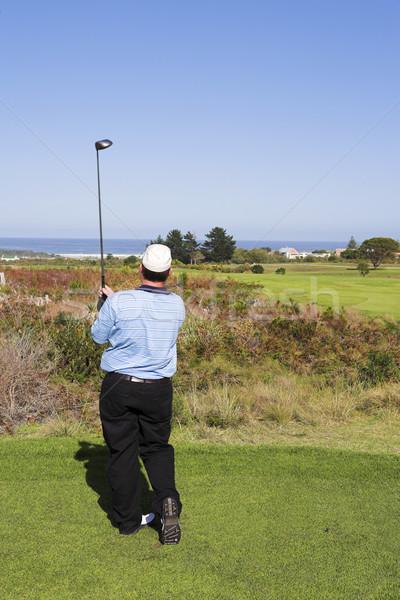 Foto d'archivio: Golf · 18 · uomo · giocare · verde · relax