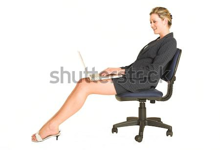 Sensual empresária caucasiano preto Foto stock © Forgiss