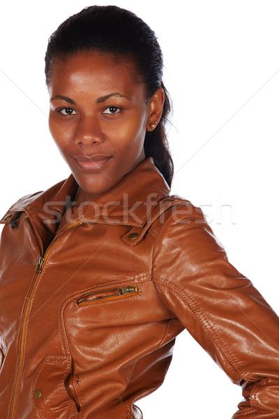 Bella african donna nero rosolare Foto d'archivio © forgiss