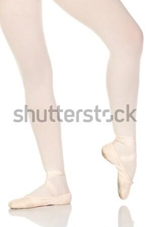 Jeunes ballerine fille blanche réfléchissant Photo stock © Forgiss