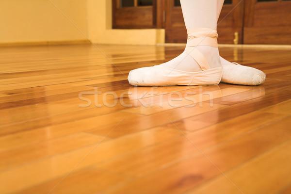 Ayakkabı kadın bale bo vücut ayakkabı Stok fotoğraf © Forgiss