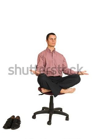 Negocios yoga hombre de negocios tensión relajante Foto stock © Forgiss