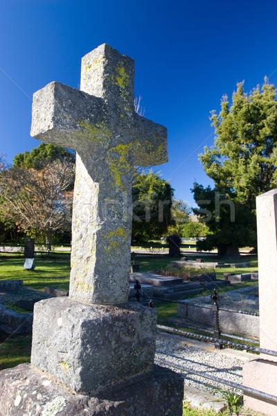 Starych kamień grobu krzyż kościoła Zdjęcia stock © Forgiss