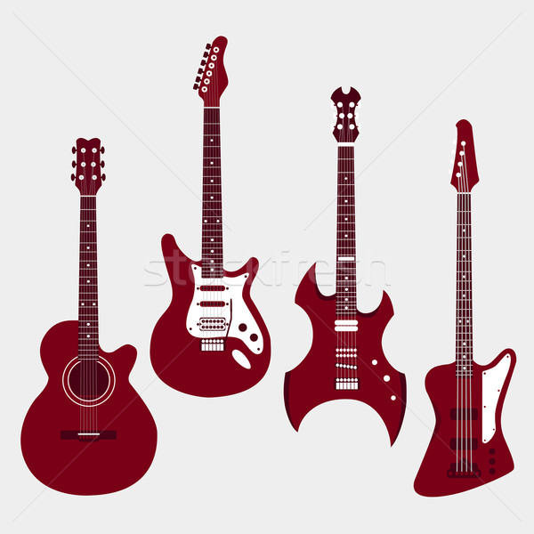セット 異なる ギター エレキギター 重金属 ストックフォト © Fosin