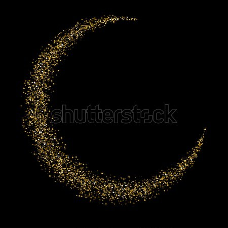 Gold glittering star dust half moon Stock photo © Fosin