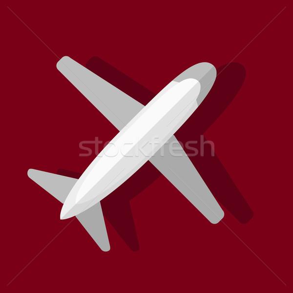 Stockfoto: Fundamenteel · vliegtuig · stijl · top · business