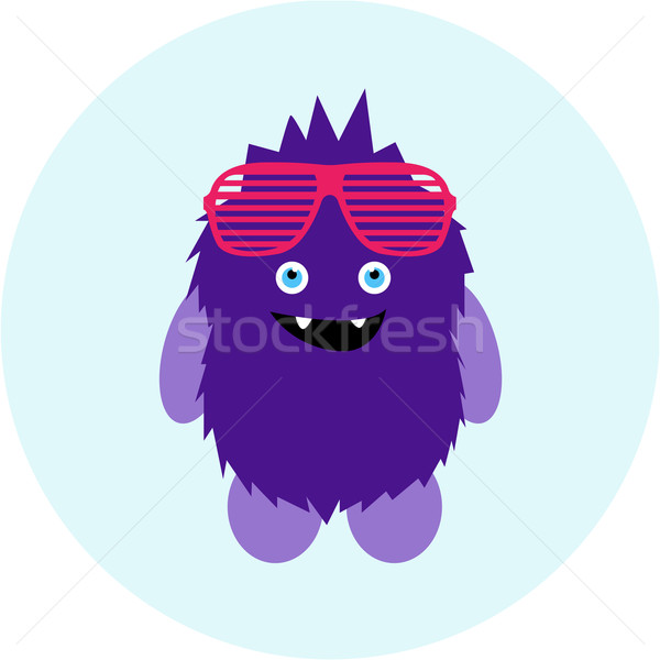 Cartoon cute monster vreemdeling vector eps Stockfoto © Fosin