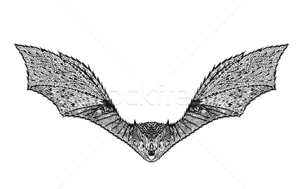Zentangle stylized bat. Sketch for tattoo or t-shirt. Stock photo © Fosin