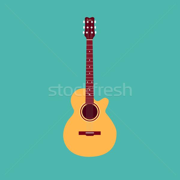 Violão clássico estilo projeto música corpo Foto stock © Fosin