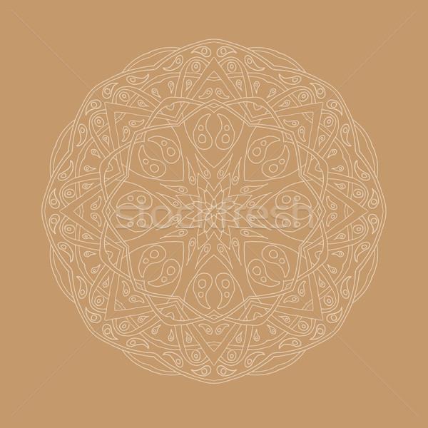 Mandala végtelen minta virágmintás kisebbségi absztrakt dekoratív Stock fotó © Fosin