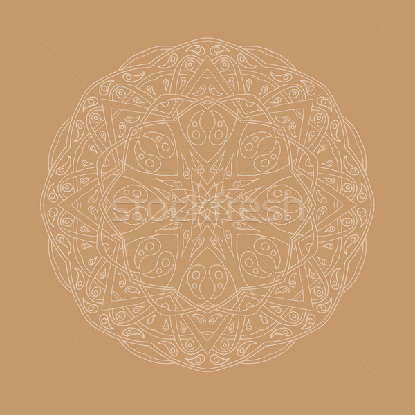 Mandala floral étnico abstrato decorativo Foto stock © Fosin