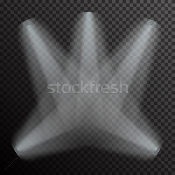 Valósághű fehér szürke izzó átlátszó színház Stock fotó © Fosin