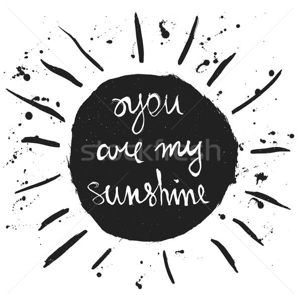 日照 ロマンチックな 引用 手描き グラフィック ストックフォト © Fosin