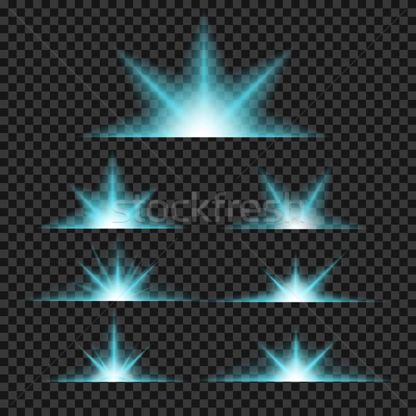 Vektör ayarlamak ışık şeffaf eğim Stok fotoğraf © Fosin