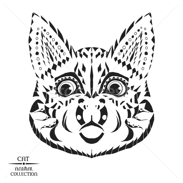 Zentangle stylized cat. Sketch for tattoo or t-shirt. Stock photo © Fosin