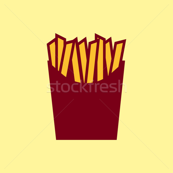 Fast food vector icon. French fries pictogram. Stock photo © Fosin