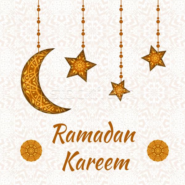 Ramadán üdvözlet terv üdvözlőlap nagylelkűség szent Stock fotó © Fosin