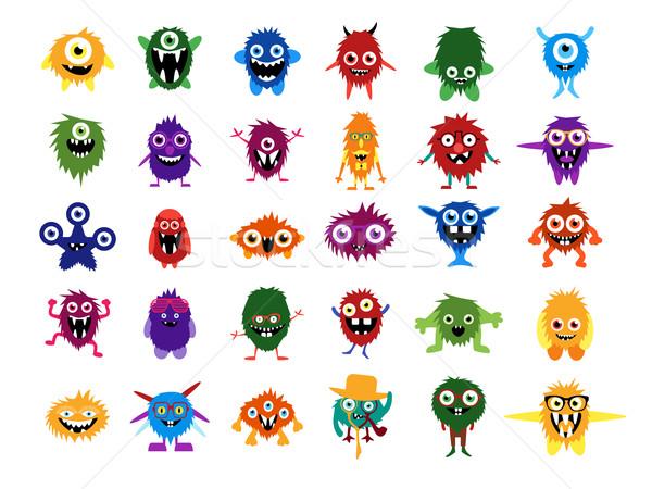 Bonitinho monstros grande conjunto desenho animado Foto stock © Fosin