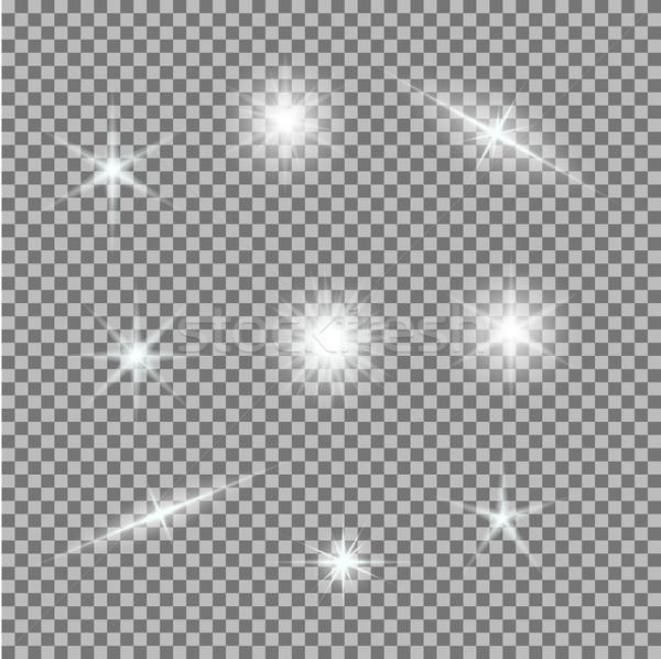 ベクトル セット 光 グレー 白 ストックフォト © Fosin