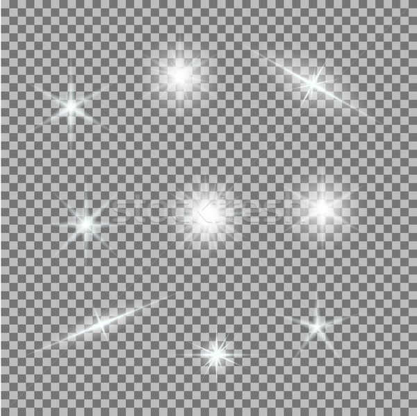 Vetor conjunto luz cinza branco Foto stock © Fosin