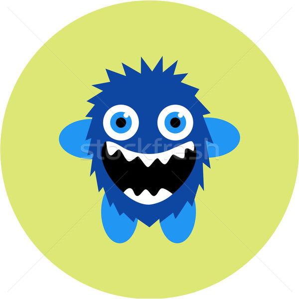 Vector ingesteld cartoon cute monsters partij Stockfoto © Fosin