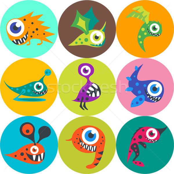 Monster cute monsters vector partij Stockfoto © Fosin
