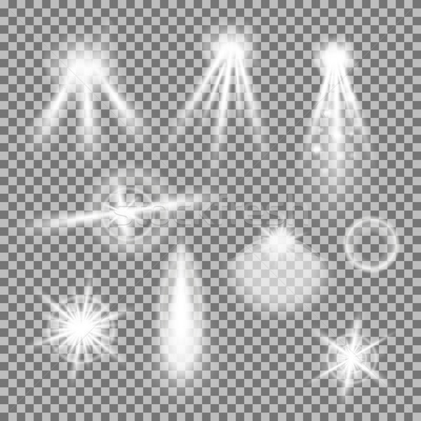 Vektor szett izzó fény átlátszó gradiens Stock fotó © Fosin
