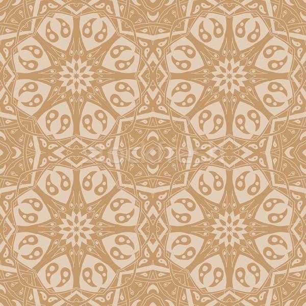 Mandala seamless pattern. Floral ethnic abstract decorative ornament Stock photo © Fosin