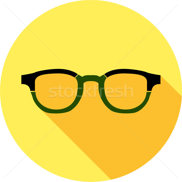 Super hero mask glasses collection. Flat style avatar icon Stock photo © Fosin