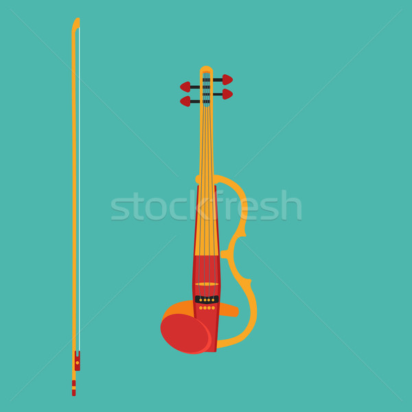 Electric violin Stock photo © Fosin