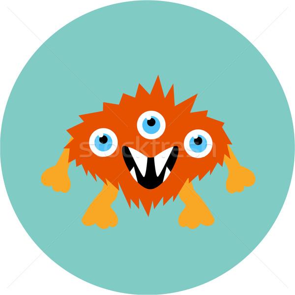 Cartoon cute monster alien. Vector illustration Stock photo © Fosin