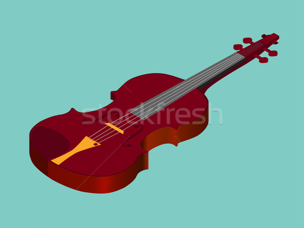Isometric classical acoustic  violin icon Stock photo © Fosin