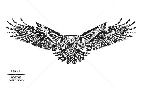 Estilizado Águia esboço tatuagem tshirt animal Foto stock © Fosin
