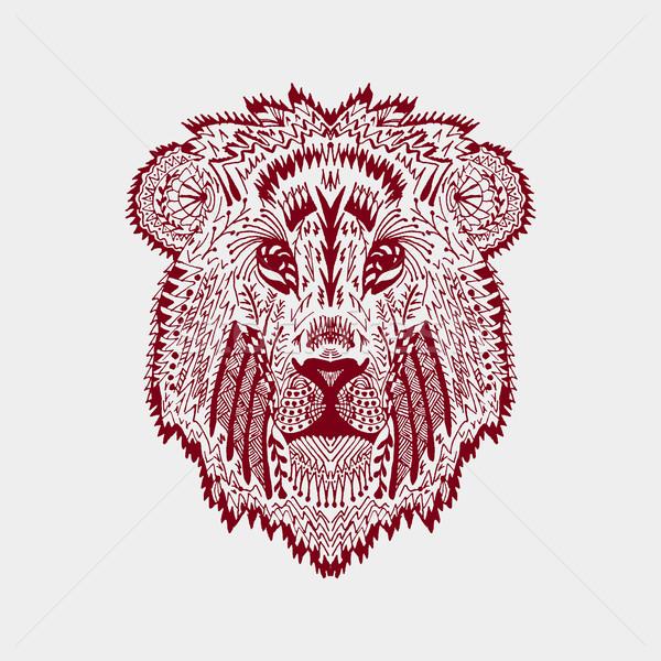 定型化された ライオン 頭 動物 コレクション クマ ストックフォト © Fosin