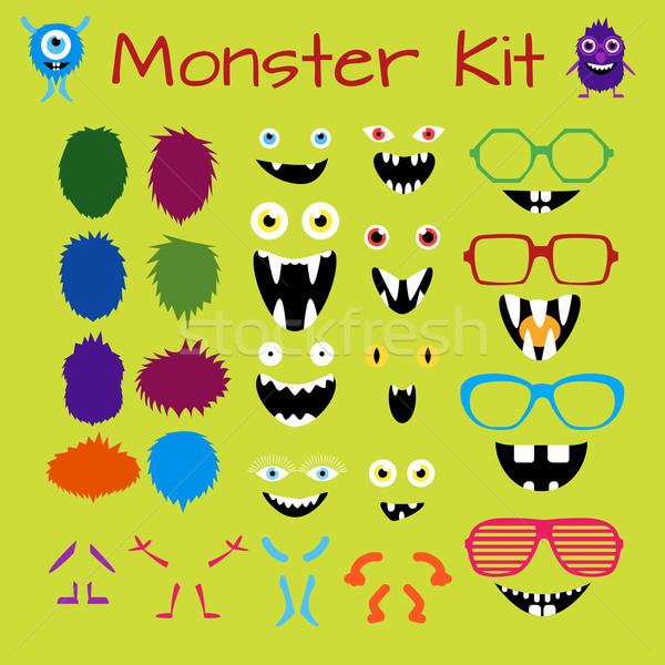 Monster karakter schepping uitrusting schaalbaar Stockfoto © Fosin